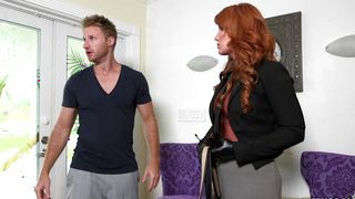 Succulent busty latin Freya Fantasia has her cave stretched by a big shaft
