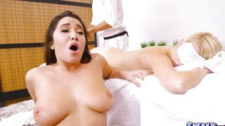 Sensational busty latin Karlee Grey who gets her gash annihilated