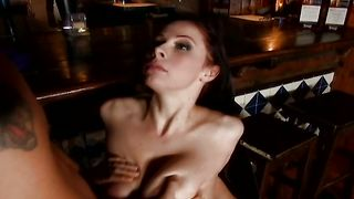 Hot-tempered busty brunette Gianna Michaels took off her clothes and got fucked hard by man