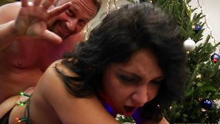 Hot busty Juliette Moore likes to get down on her knees and suck packing monster