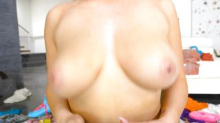 Engaging busty blonde floozy Kylie Page sucks a throbbing sausage