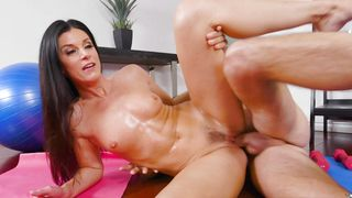 Beautiful floozy India Summer with massive tits and playmate are sometimes having casual sex and enjoying it a lot