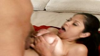 Cunning busty Evie Delatosso asked a man to fuck her brains out