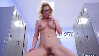 Glamor busty sweetheart Phoenix Marie receives a firm plowing after the foreplay