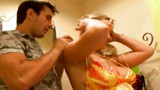 Voluptous gal Abbey Brooks with massive tits is getting fucked way often than her husband spands time at home