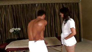Lusty brunette floosy Bobbi Starr with massive tits is ready to get fucked like never before and enjoy it a lot