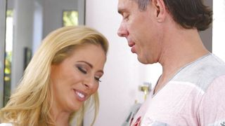 Hot busty blonde maid Cherie Deville getting fucked hard the pro way