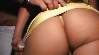 Insatiable busty blonde Tanya James intensively rides donga