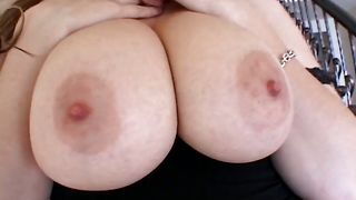Heavenly babe Cassandra Calogera with round tits is picked up by the perverted buddy