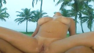 Shameless beauty Nanda with big tits is ready to suck a schlong