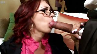 Racy busty Kylee Strutt gives a sloppy blowjob before fucked