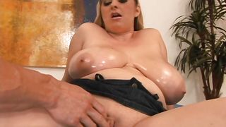 Vigorous busty April Mckenzie has her trimmed little poontang licked and fucked