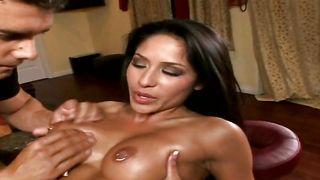 Ambitious busty brunette Jenaveve Jolie is having some good sex