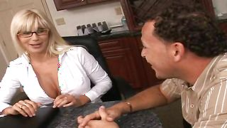 Stupendous busty honey Puma Swede finds a hard pecker on the