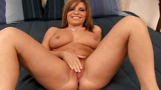 Sensational blonde maiden Nicole Banks with great tits wants stud to slam her super hard