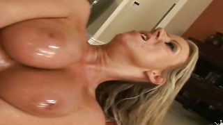 Enchanting honey Carolyn Reese with large tits whimpers while being hammered
