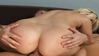Breathtaking blonde gal Rachel Solari with large tits and a buddy are having sex in front of camera