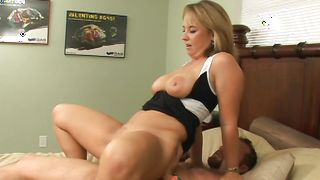 Girlfriend Kaci with impressive tits gets her playful gash played with