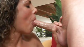 Classic action in the vagina for ravishing busty brunette gal Jenni with fine curves