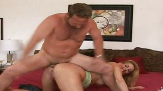 Sassy blonde Darryl Hanah with impressive tits loves being licked and smashed by stranger