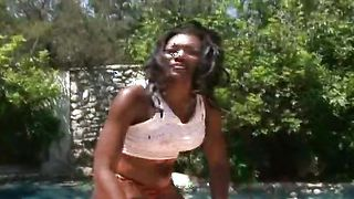 Admirable busty Nyomi Banxxx is sucking her best friend's hard love rocket like a real pro and enjoying it