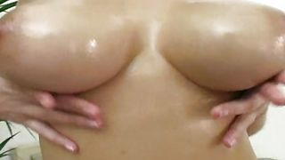 Sultry busty brunette Simi with wet putz receives a fuck stick