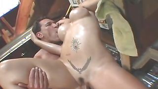 Fucker is doing his best to satisfy hot Olivia O Lovely with big tits in every way