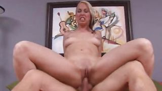 Mouthwatering busty blonde babe Zoe is having wild sex