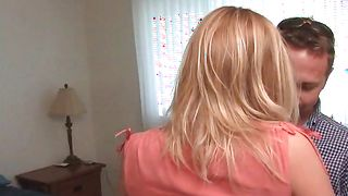 Aphrodisiac busty blonde bimbo Erika and boyfriend are having a great time together