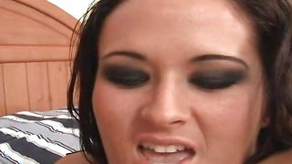 Stupefying brunette Carmella Bing with firm tits gets seduced and fucked