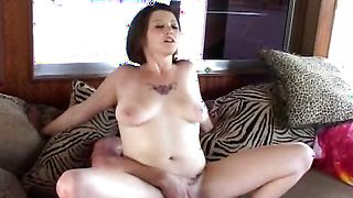 Mouthwatering busty Brianna squirms while riding a hard fang
