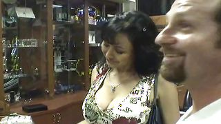 Foxy latin gf Claudia with impressive tits bangs like a fuck machine in non-stop action
