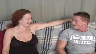 Lovely blonde floozy Kandis with impressive tits gives nice fellatio before getting wet cuch nailed