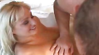 Playsome busty blonde Sheridan shows off her dirty side