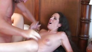 Enchanting babe Gema with massive tits is sucking dick like a pro and enjoying it a lot