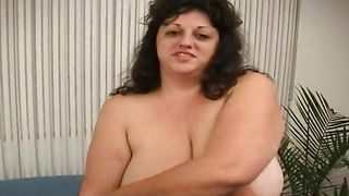 Lewd girl Jenny with huge tits is ready to fuck because her perfectly shaved twat is wet