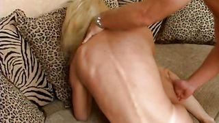 Sultry blonde beauty Ashley with firm tits has a really perfect butt and loves to fuck