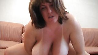 Prodigious brunette maid Wendy with great tits reveals her boobs