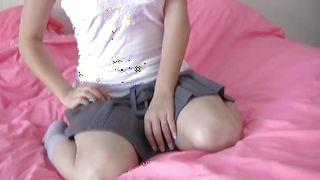 Sex appeal idol Chi Yoko with huge natural tits gives mouthwatering handjob and rides the boner