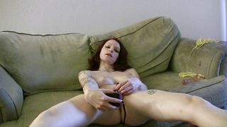 Pungent redhead gf Kajira with curvy natural tits likes to get fucked in the middle of the day
