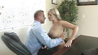Staggering Daryn Darby with big tits and a man are fucking like crazy instead of getting ready for work