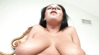 Cunning Bella Blaze with massive natural tits fucks her hot lad outside while on holiday