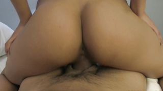 Remarkable Karmen Bella with large tits takes it form behind like a good whore