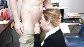 Sexual blonde lady Jenna Ashley with impressive tits rides a packing monster like a beast