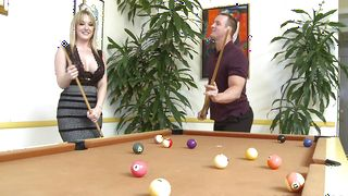 Spicy blonde hottie Tristyn Kennedy with great tits receives a shaft in her tight tunnel of love