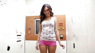 Playsome gf Maya Grand with great tits deepthroats and gets her muff plowed without mercy