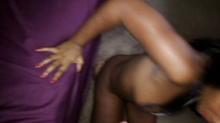 Appealing ebony Rane Revere with curvy tits and male are secretly fucking in the middle of the day