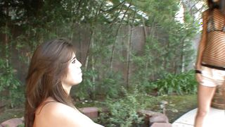 Heavenly honey Izzy with great tits is getting fucked in a doggy style position and enjoying