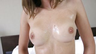 Aroused brunette floozy Molly Manson with curvy tits is eager to get her copher racunnyed