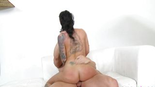 Startling brunette chick Christy Mack with big tits is hungry for a giant dong